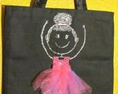 Sparkle Ballerina Canvas Tote Bag FREE SHIPPING