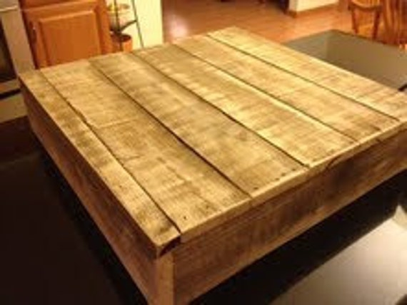 """Rustic Wooden Cake Stand or Decor Barn Box made of Reclaimed Wood 18""""x18"""""""