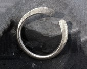 RING, SILVER, Hammered, Forged, Stackable, Organic, Rustic, Personalized.