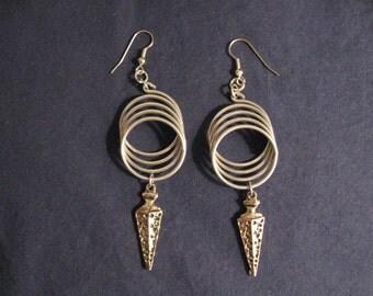 Coil and dagger earrings