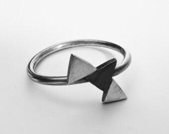 small trio triangle ring