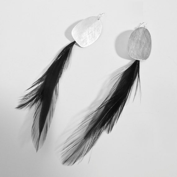 Thin Feather Earrings