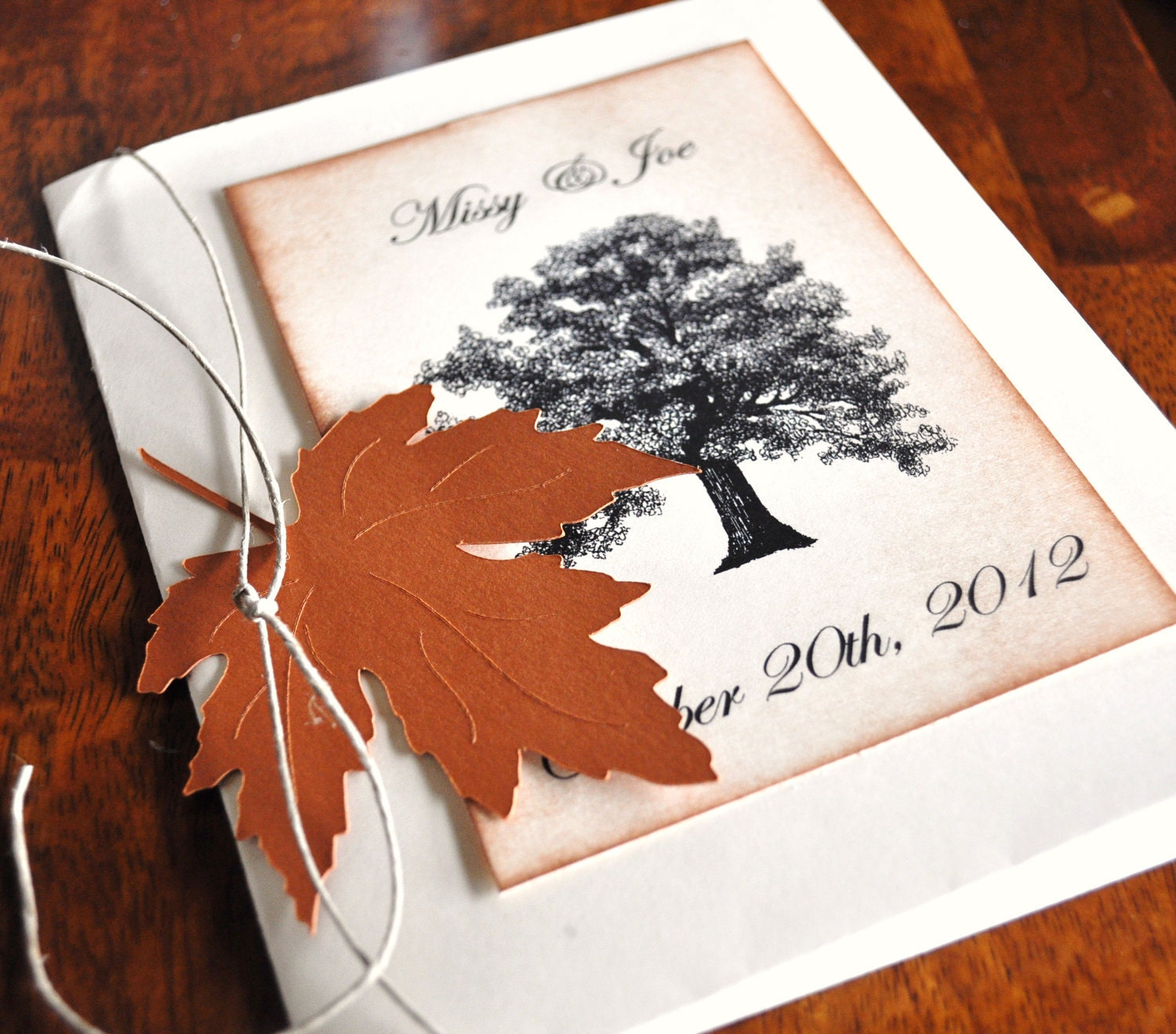 Custom Fall Wedding Invitations Fall Wedding By