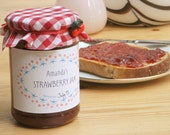 Personalized printable preserve/jam/jelly label - strawberry