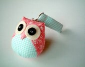 Pigwegeon - the Little Cute Owl Doll with Bag: plush, keychain, children, kid, baby, boy, girl, kid, blue, pink, plaid, sakura