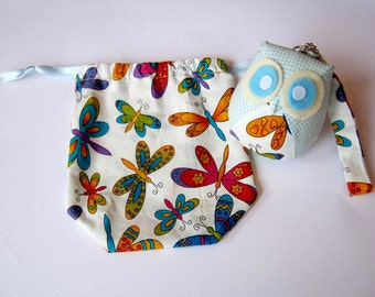 Buttercup - Little Cute Owl Doll with Bag: plush, owl decor, doll, kid doll, children doll, owl decoration, kawaii, plaid, discount, sale