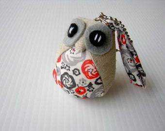 Malee - the Little Cute Owl Doll with Bag: plush, keychain, children, kid, baby, boy, girl, kid, eco, soft, red, balck, grey, gray