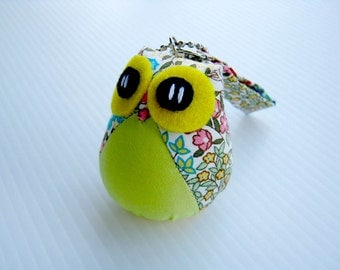 Yellow Jello - the Little Cute Owl Doll with Bag: plush, keychain, children, kid, baby, boy, girl, kid, eco, soft, flower, garden