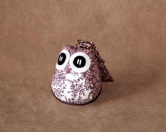 Violeta - the Little Owl Doll with Bag: purple, violet, plush, keychain, children, kid, baby, boy, girl, kid, poka dot, kawaii, white