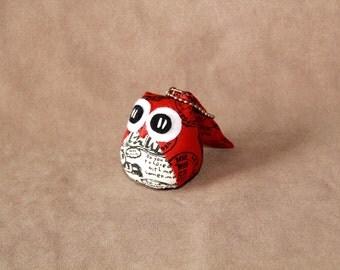 Orangee - the Little Owl Doll with Bag: purple, violet, plush, keychain, children, kid, baby, cute, kid, poka dot, kawaii, white