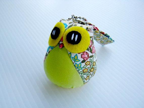 Yellow Jello - the Little Cute Owl Doll with Bag: plush, keychain, children, kid, baby, boy, girl, kid, eco, soft, flower, garden