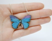 Miniature Wooden Butterfly Necklace
