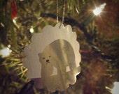 Polar Bear Ornaments made from aluminum Coca-Cola cans, set of 6