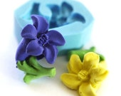 Lily Flower with Leaves 23mm Bakery Flexible Mold 109mf