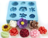 Mini Flower Set of 9 x 10mm Bakery Flexible Mold 200L BEST QUALITY