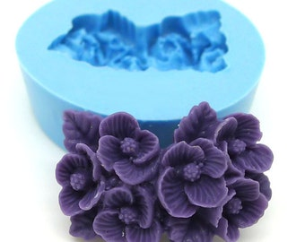 Flower Cluster 25mm Bakery Flexible Push Mold 112mf* BEST QUALITY