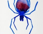 Original Watercolor: The Spider