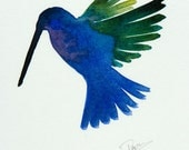 Original Watercolor: The Hummingbird