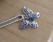 RESERVED  Beauteous Butterfly  filigree pendant