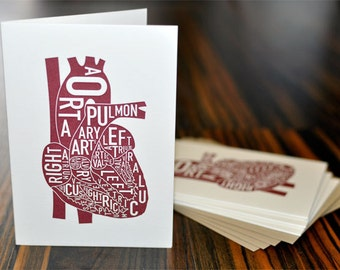 Love the Heart Letterpress Card Pack by Ork Posters