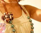 Necklace Bombazine Flower