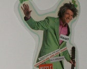 """Paper Collage Bookmark Ornament Hangy Thing """"WIGGLE"""""""