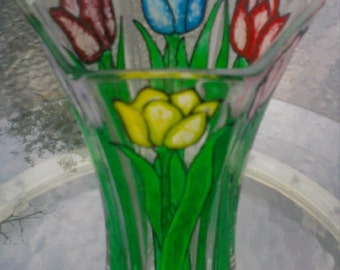 Painted Tulip Vase On Sale Now For Spring