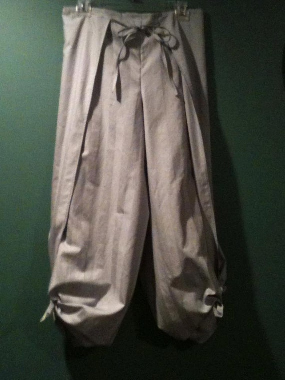 100% Egyptian Cotton Silver Gray Pirate Wrap Pants