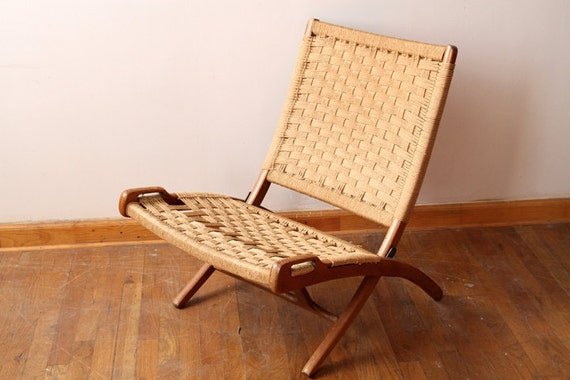 Mid century folding chair by heritagealliance on etsy