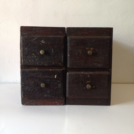 Salvaged Wooden Hardware Store Drawers