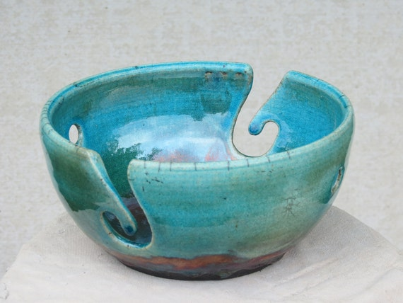 Yarn Bowl- Stone Penguin Pottery