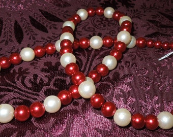 My Heart's a Fire Pearl Necklace  Item #1032