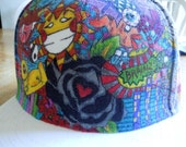 Custom Vibrant Sharpie One of a Kind Flat Billed Hat