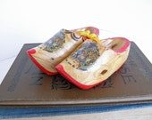 vintage wee wooden clogs from france