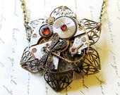 Steampunk Jewelry, Clock Gears Pendant, Authentic Industrial Watch Part
