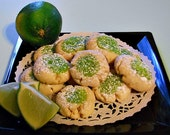 Tangy Sweet Creamy Lime Cookies