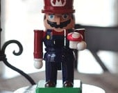 Hand Painted Mario Nutcracker