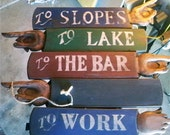Personalized, Hand crafted, vintage wood signs