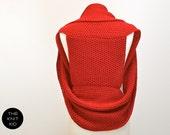 knitted shrug waistcoat stola merino red the knit kid