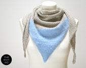 triangle scarf merino angora mohair birch light blue the knit kid