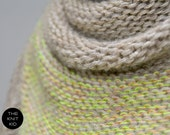 triangle scarf NEON merino angora birch triangular shawl the knit kid