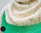 triangle scarf gras green colorful cotton triangular shawl theknitkid