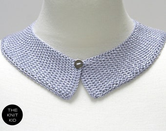 knitted collar lavender lilac pale pastel purple theknitkid