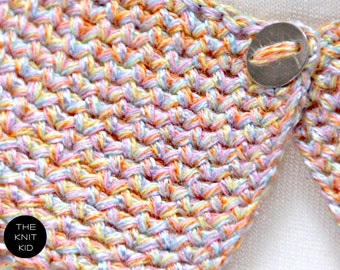 knitted collar pastel colors cotton theknitkid