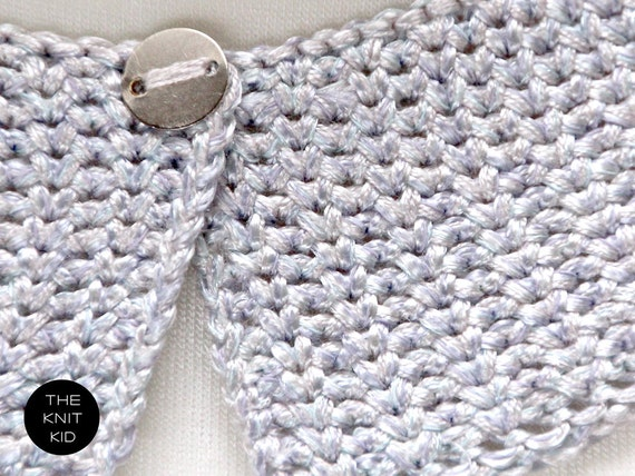 knitted collar mermaid pastel theknitkid