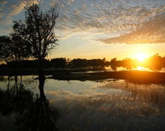 """Kadadu at Sunrise Fine Art Photograph 18""""x12"""""""