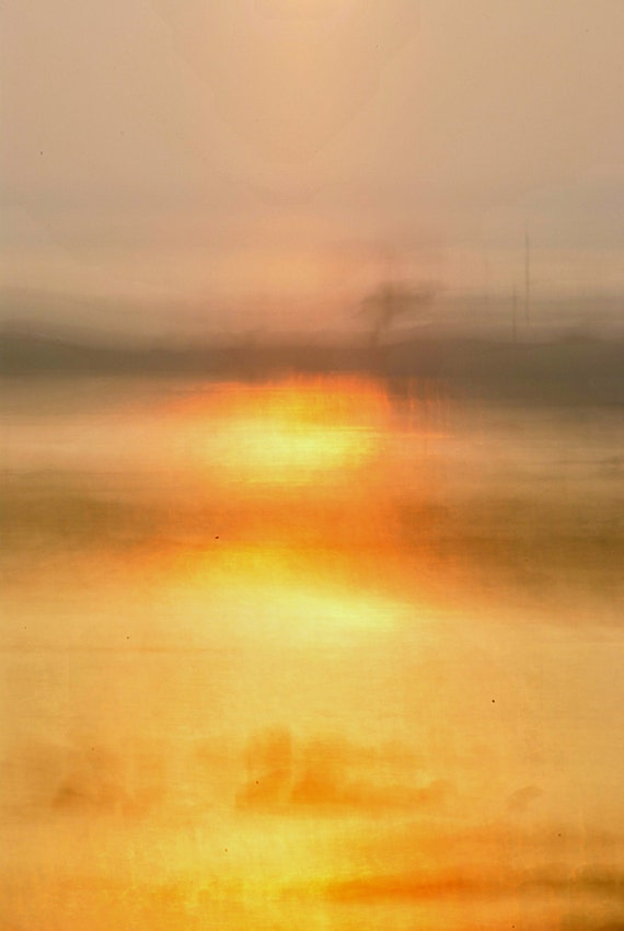 "Ireland Abstract Photograph of a Connemara Sunset  20""x 16"""
