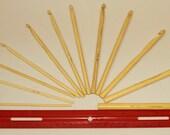 Bamboo Crochet Hook Set, 3mm to 10mm QTY 12