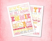 You are My Sunshine Subway Art Birthday Invitation -  fully customizable, printable