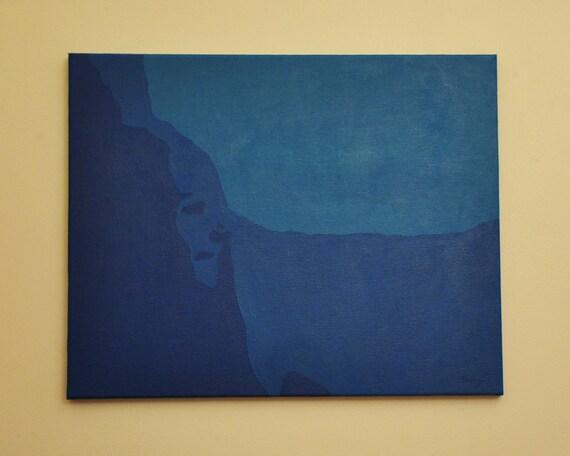 "ORIGINAL Art - Acrylic Painting - ""But I Want Blue"""